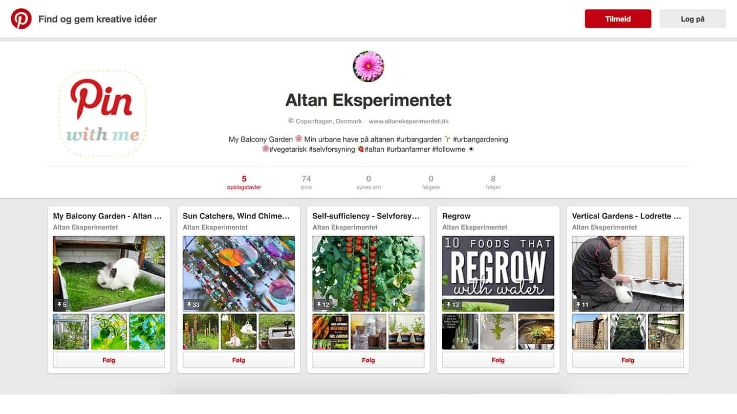 Altan Eksperimentet på Pinterest - Pin with me