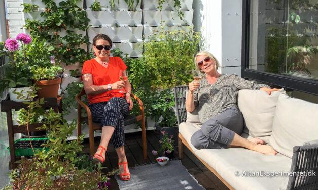 Altanindretning og møbler til altanen